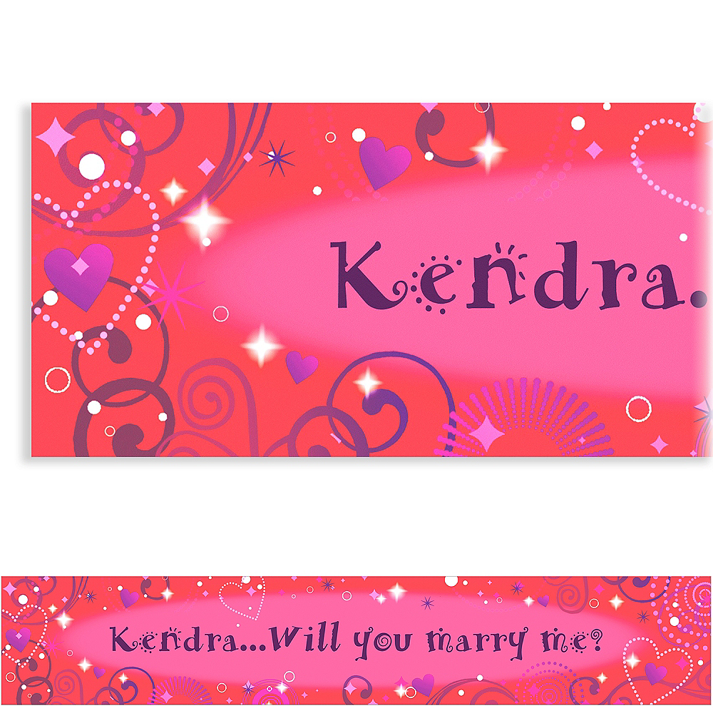 Custom Love Crazy Valentine's Day Banner 6ft Image #1