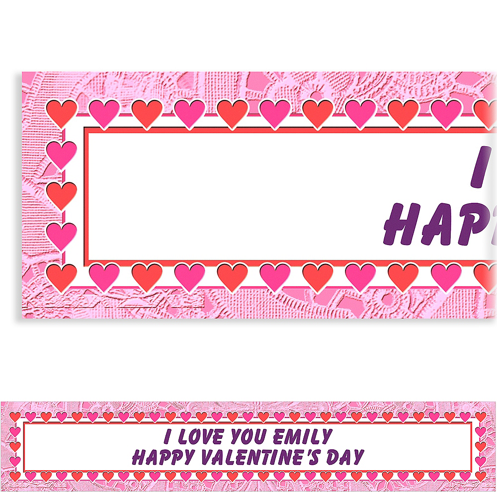 Custom Key To Your Heart Valentine's Day Banner 6ft Image #1