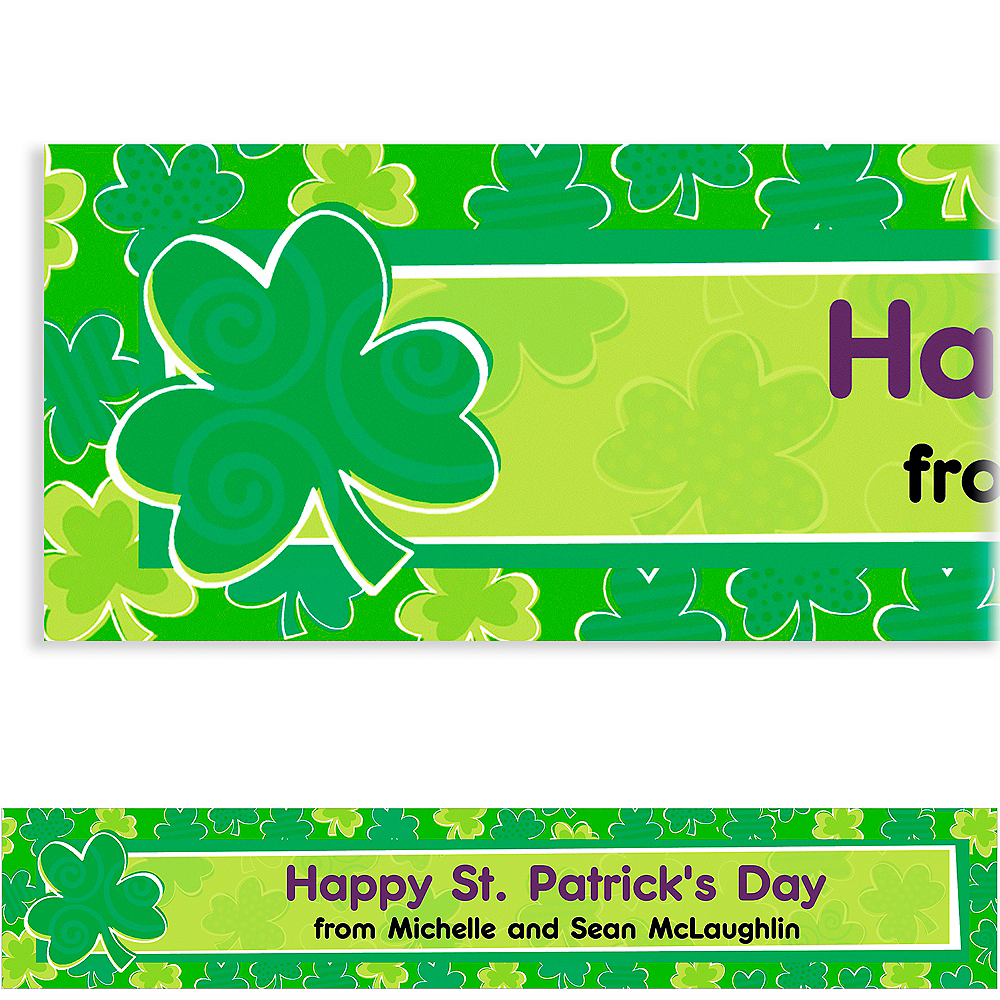 Custom Playful Shamrocks St. Patrick's Day Banner 6ft Image #1