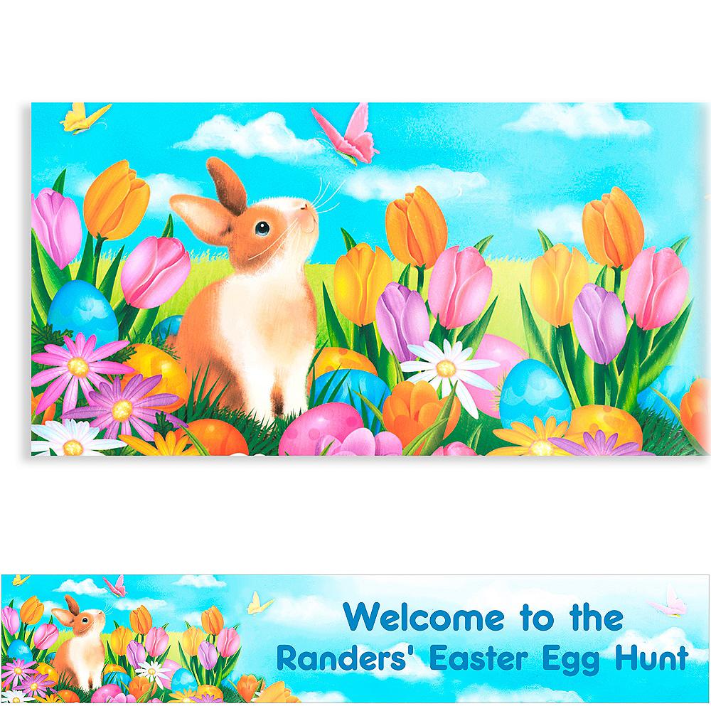 Custom Garden Bunny Easter Banner 6ft Image #1