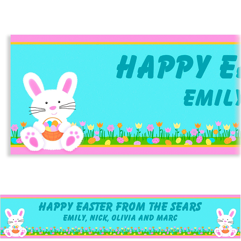 Custom Easter Friends Easter Banner 6ft Image #1