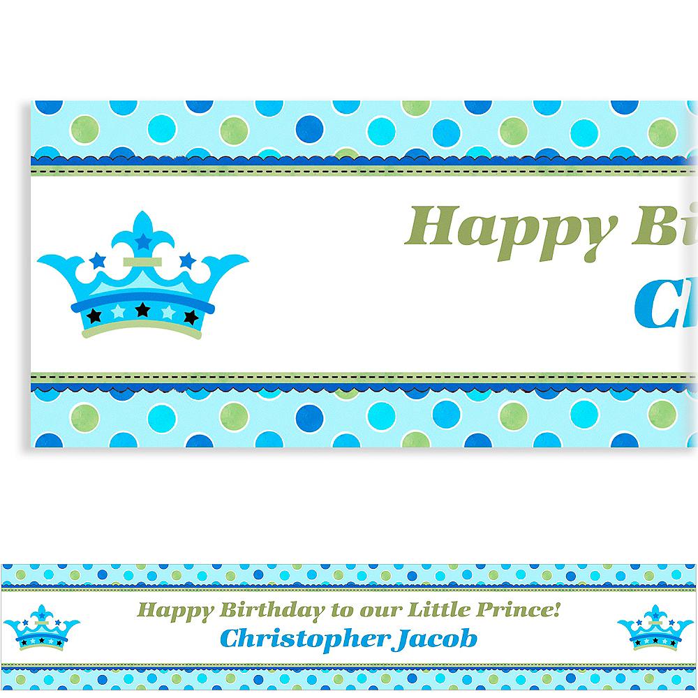Custom Little Prince Birthday Banner 6ft   Party City