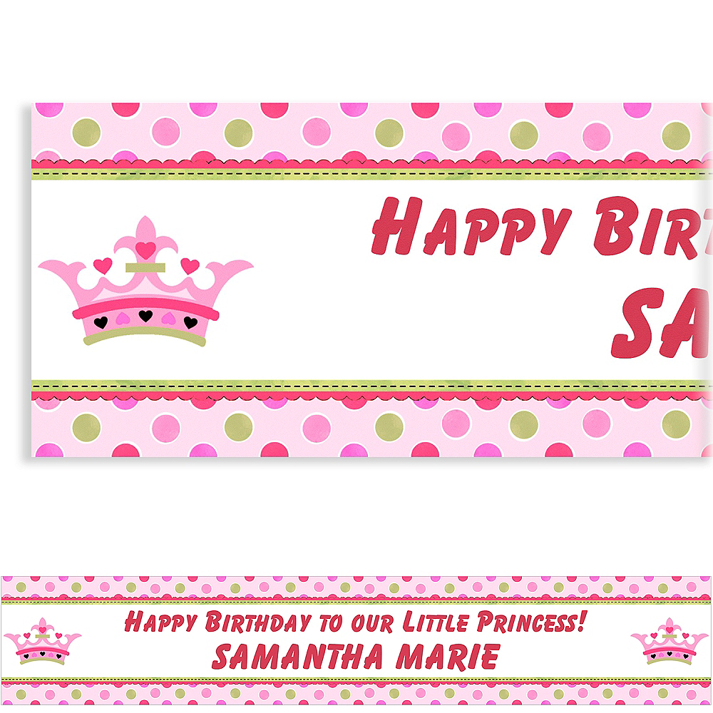 Custom Little Princess Birthday Banner 6ft Image #1