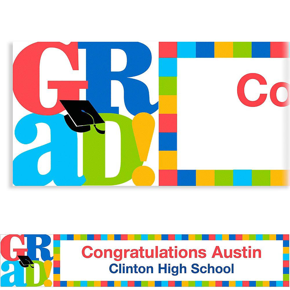 Custom Bravo Grad Graduation Banner 6ft  Image #1