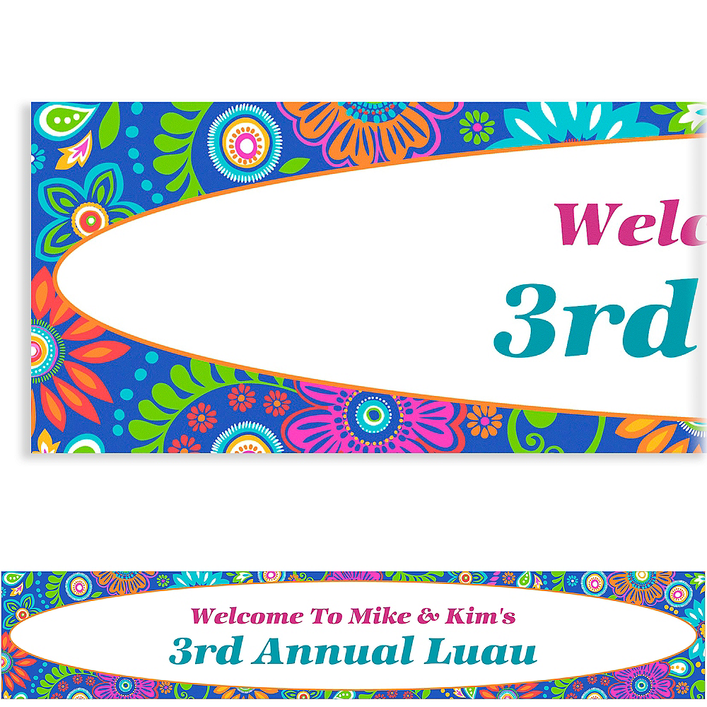 Nav Item for Custom Island Getaway Luau Banner 6ft Image #1