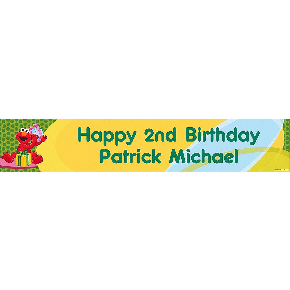 Custom Elmo Birthday Banner 6ft Image #1