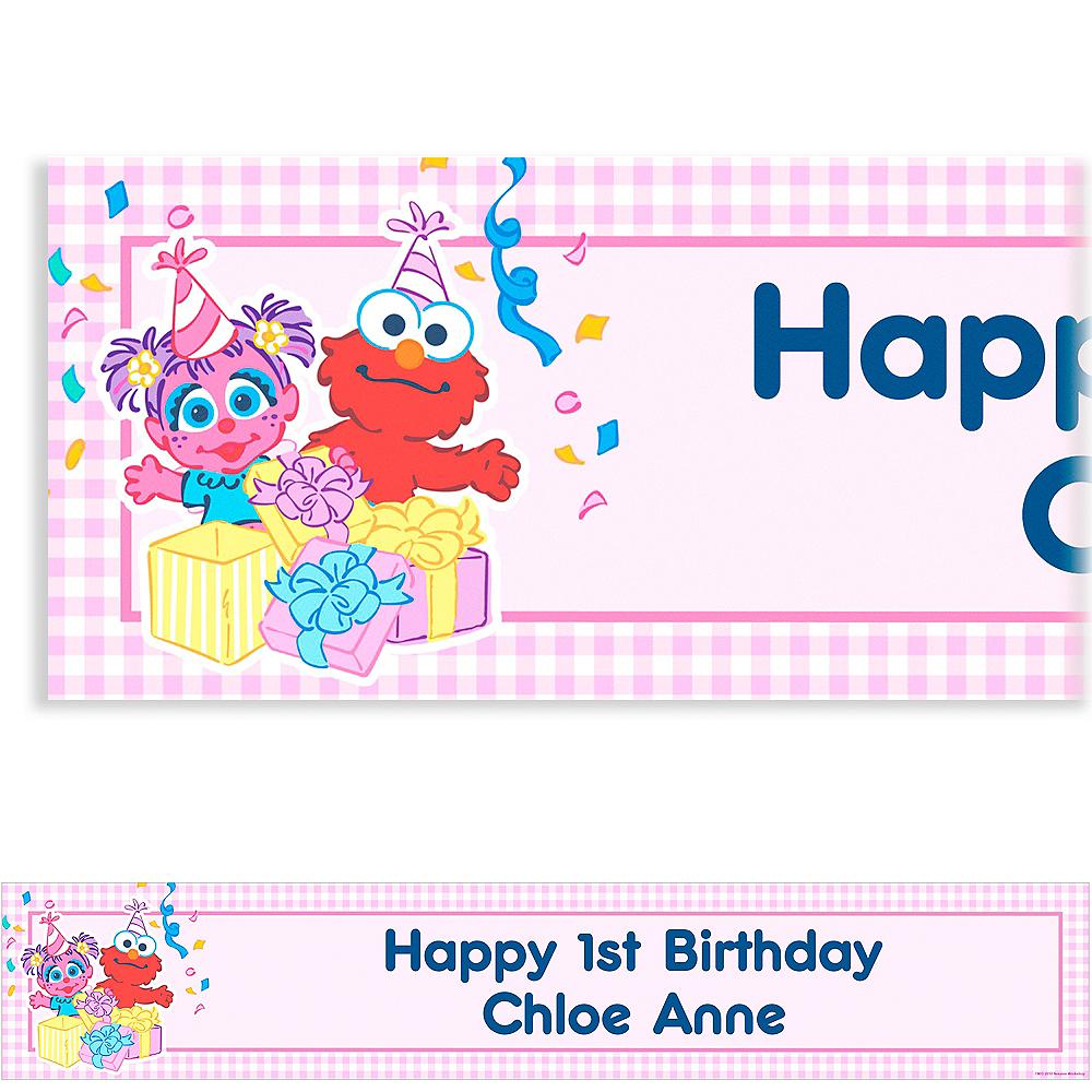 Custom Abby Cadabby 1st Birthday Banner 6ft Image #1