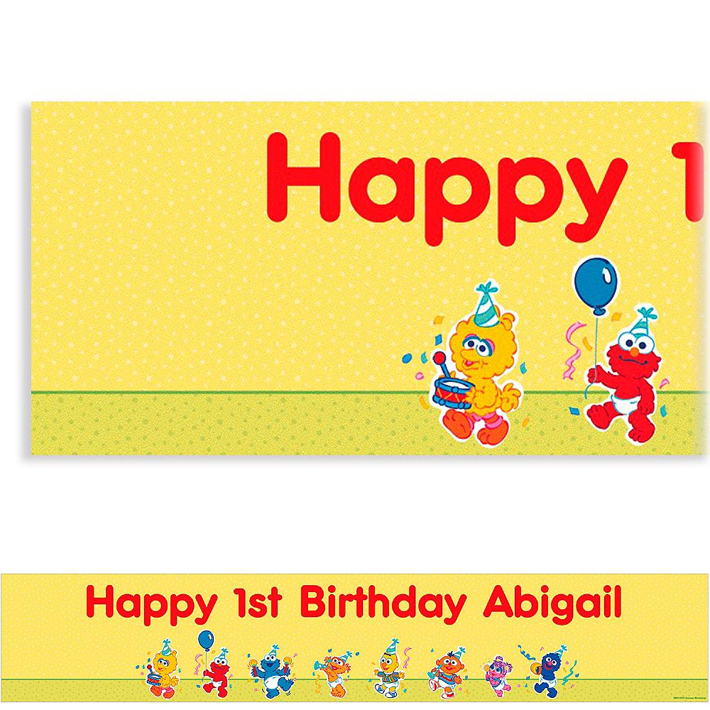 Custom Sesame Street 1st Birthday Banner 6ft | Party City