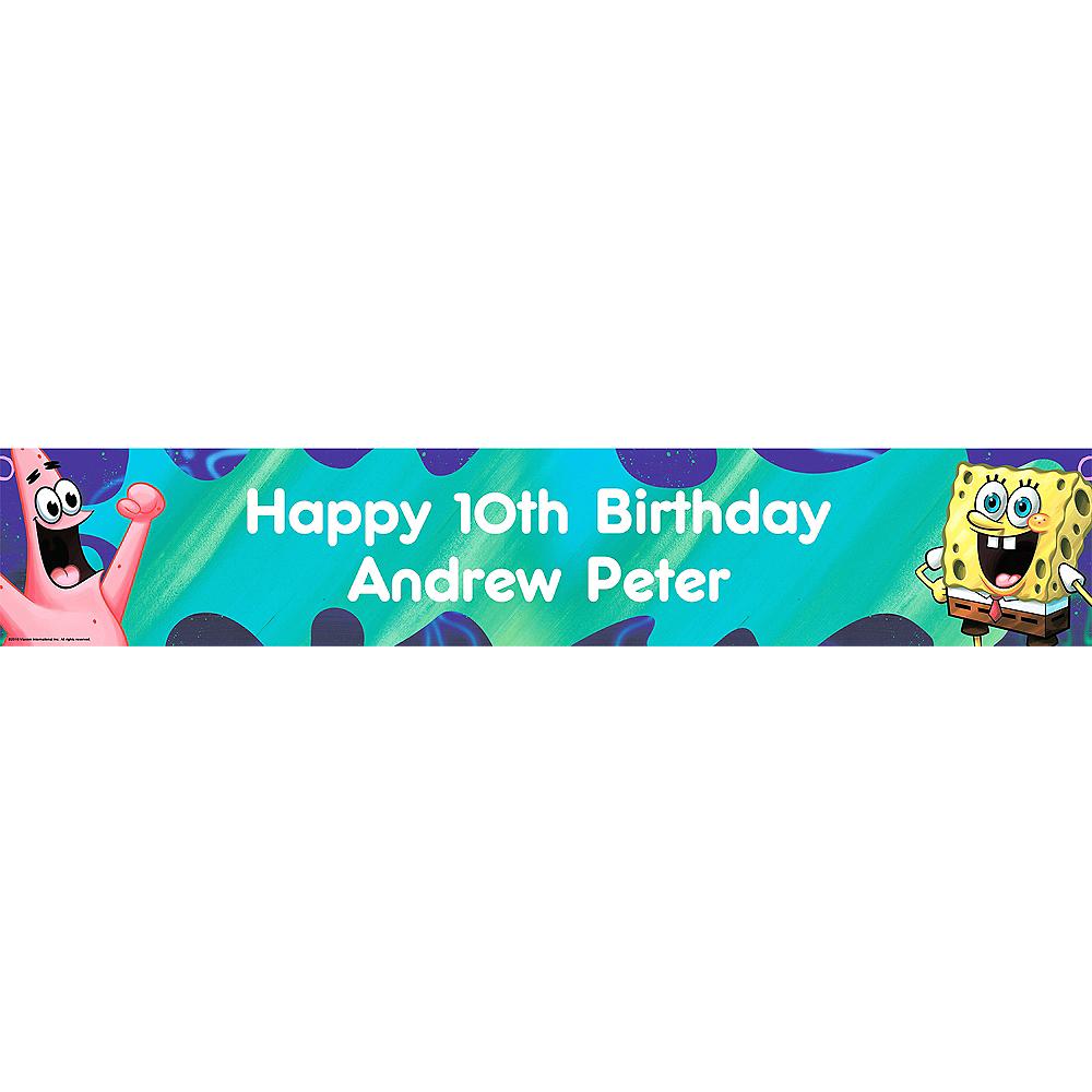 Custom SpongeBob Classic Birthday Banner 6ft Image #1