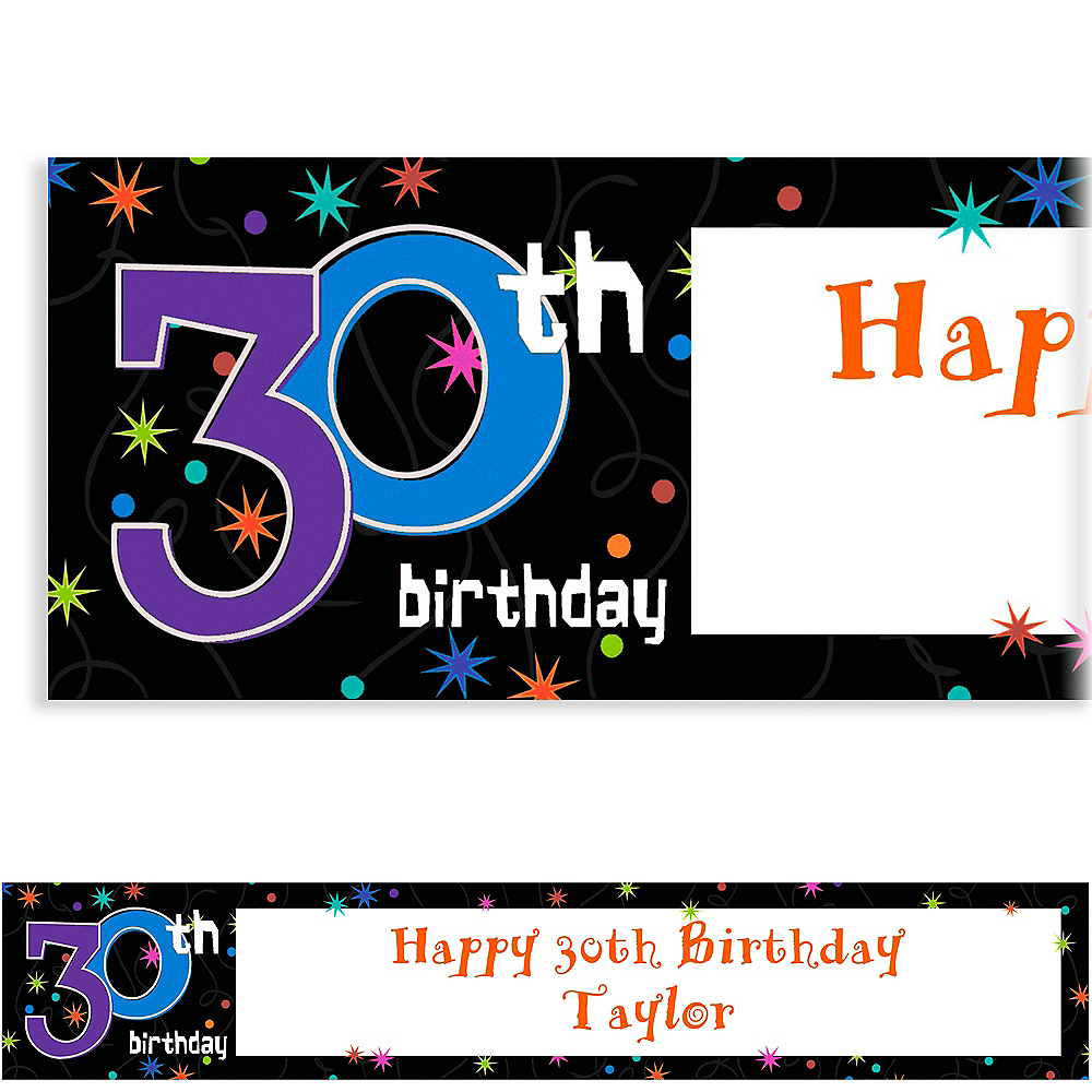 Custom The Party Continues 30th Birthday Banner 6ft Image #1