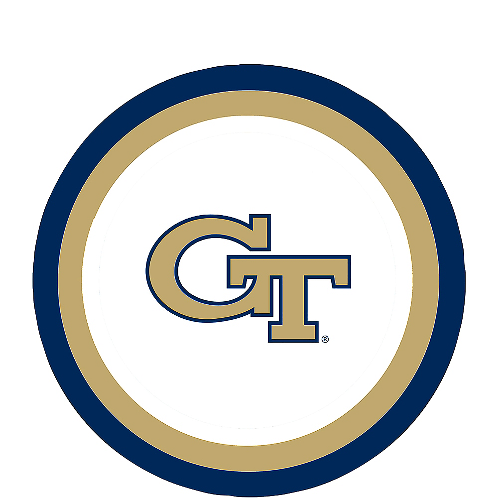 Georgia Tech Yellow Jackets Dessert Plates 12ct Image #1