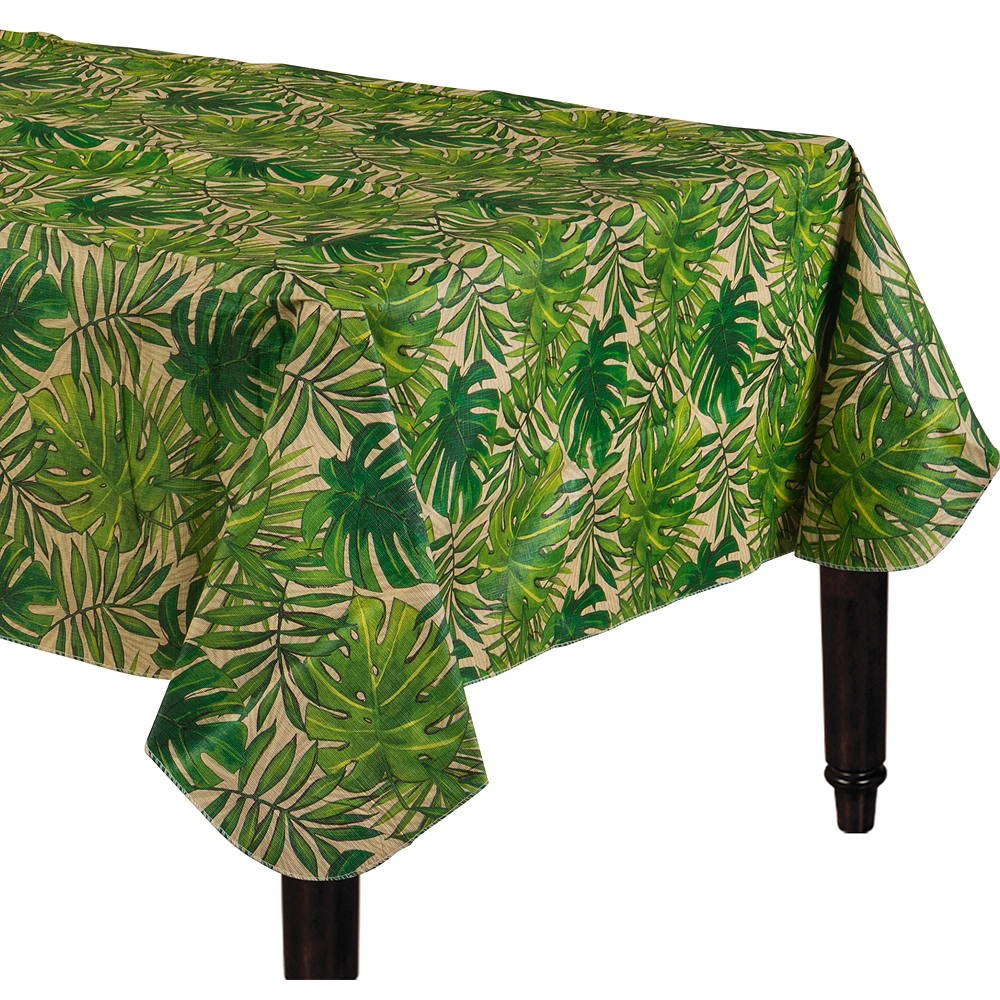 Island Palm Flannel-Backed Vinyl Table Cover Image #1