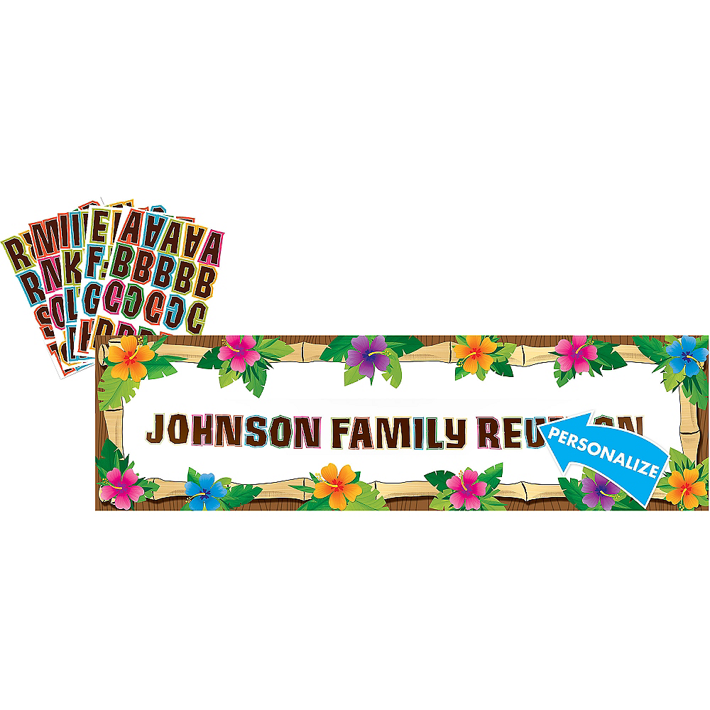 Personalized Luau Banner Image #1