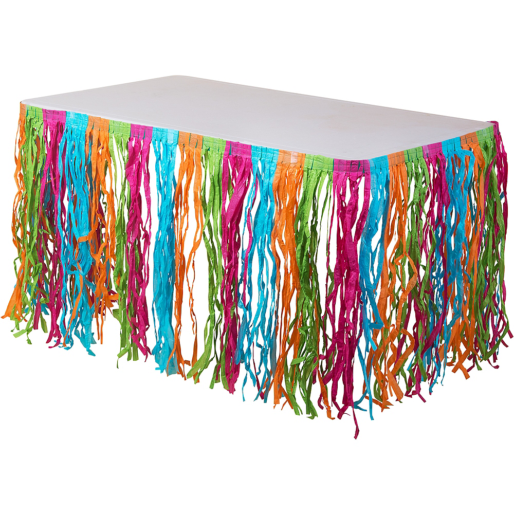 Multicolor Grass Table Skirt Image #1