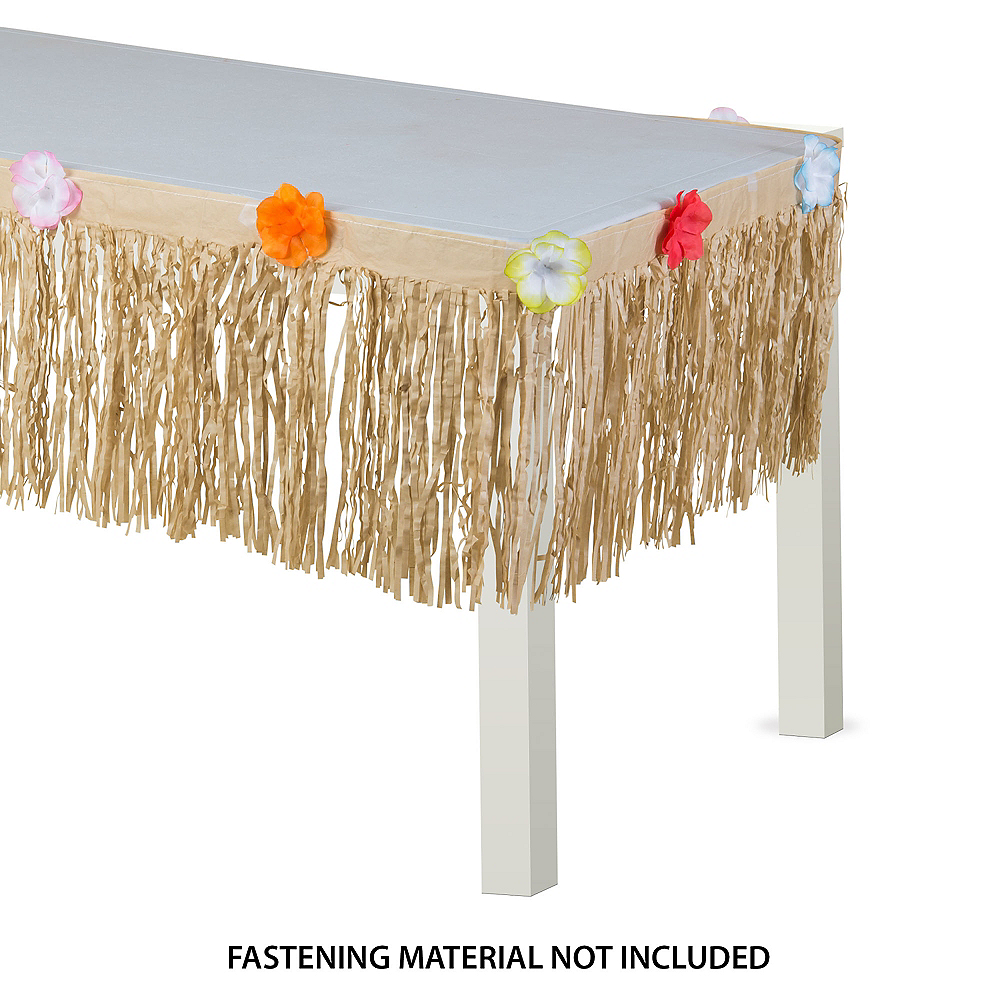 Natural Grass Table Skirt Image #1
