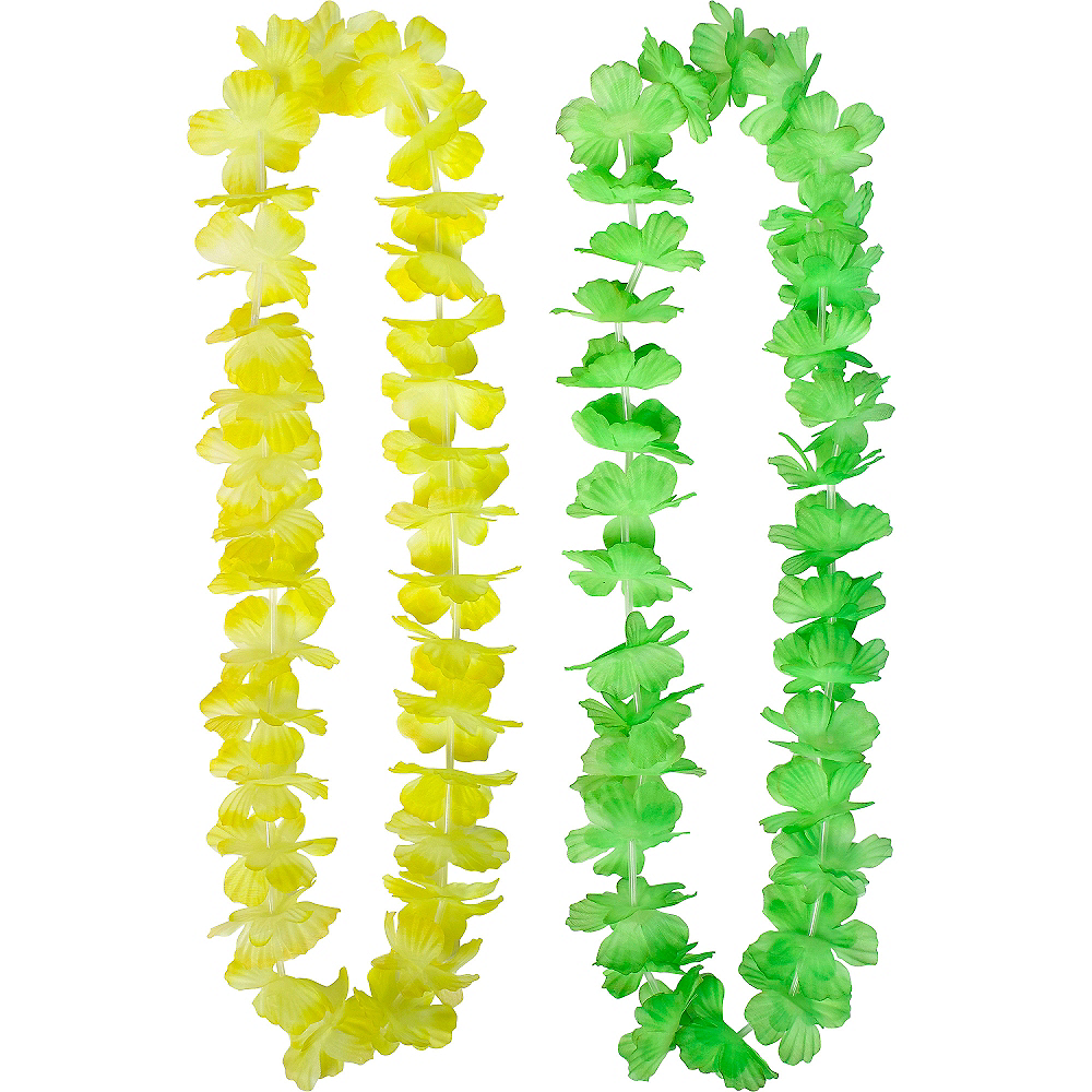 Rainbow Flower Leis 6ct Image #3