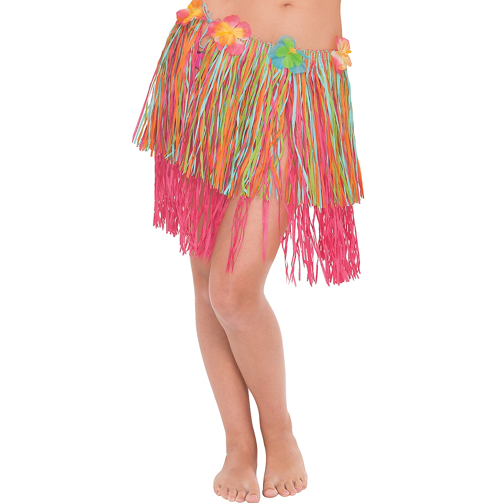 Adult Rainbow Hula Skirt Image #1