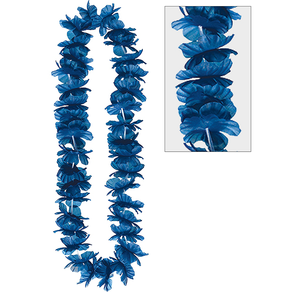 Nav Item for Blue Hawaiian Flower Lei Image #1