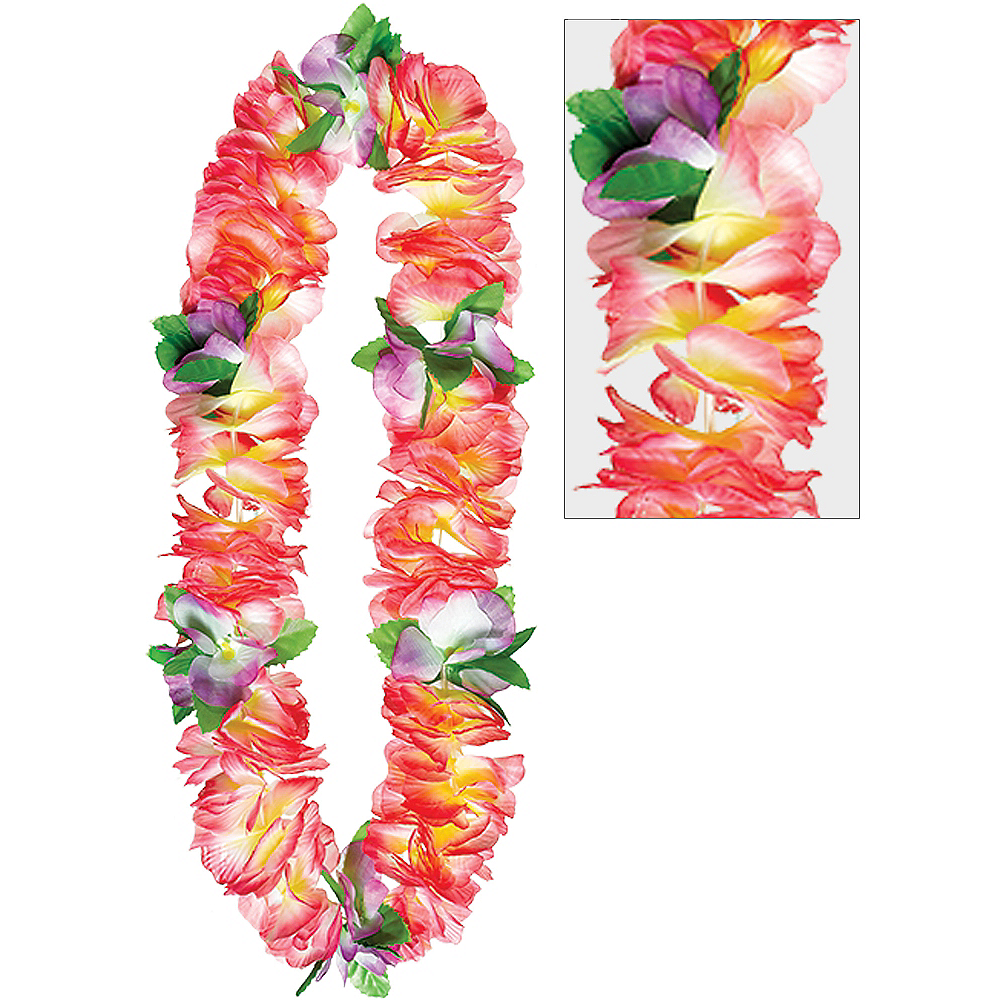 Nav Item for Pink Soft Petal Lei Image #1