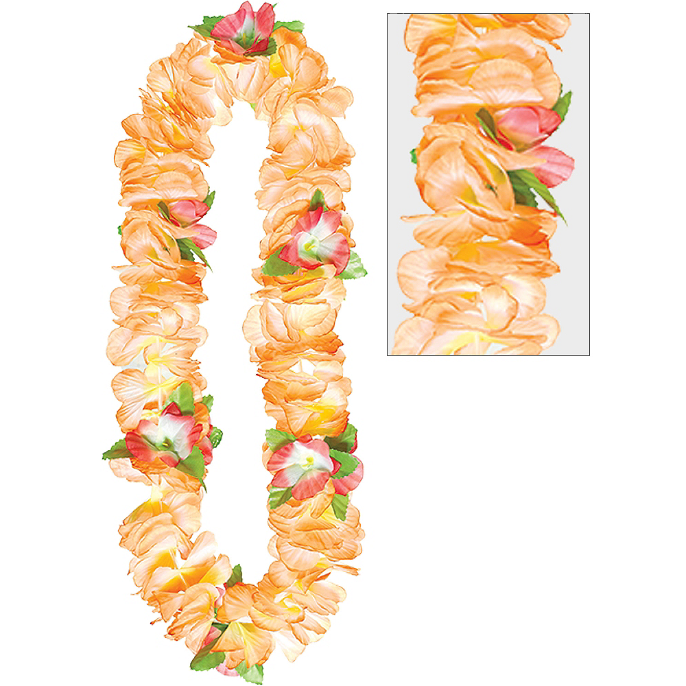 Orange Soft Petal Lei Image #1