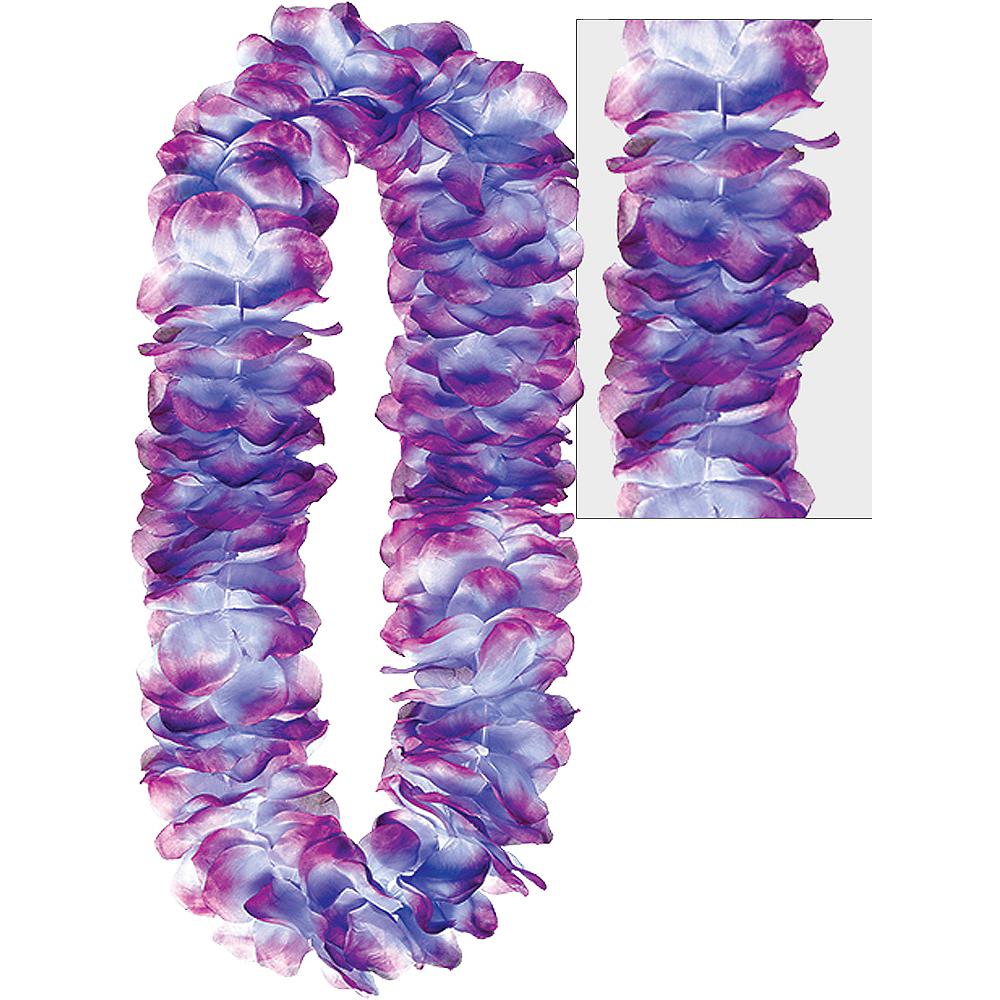 Purple Mahalo Flower Lei Image #1