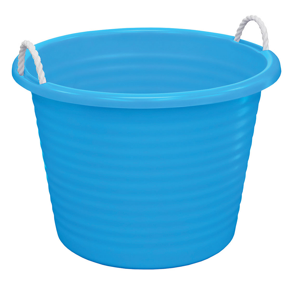 Blue Plastic Tub with Rope Handles 22in x 16in | Party City