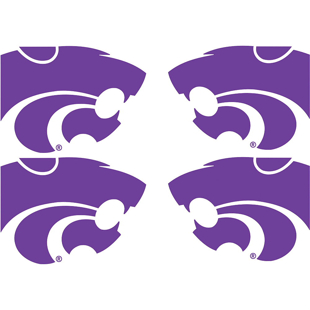 Kansas State Wildcats Face Decals 4ct Image #1