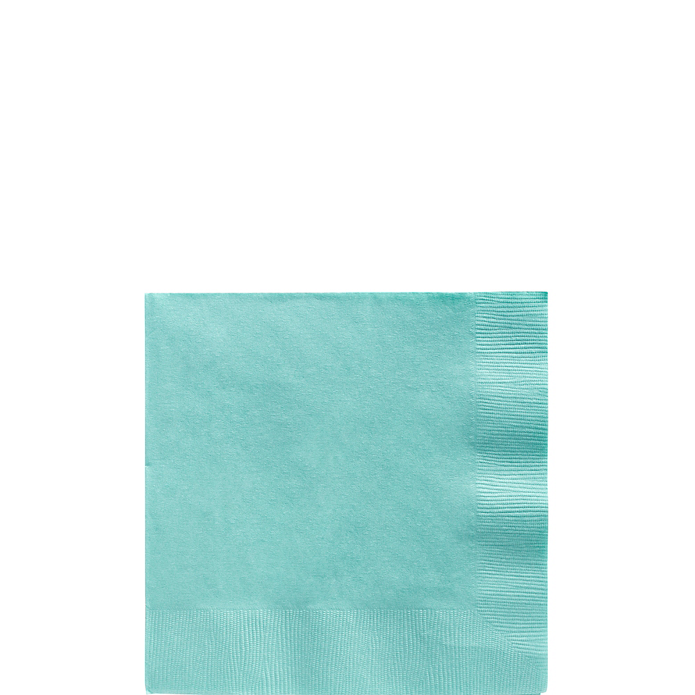 Robin's Egg Blue Beverage Napkins 50ct Image #1