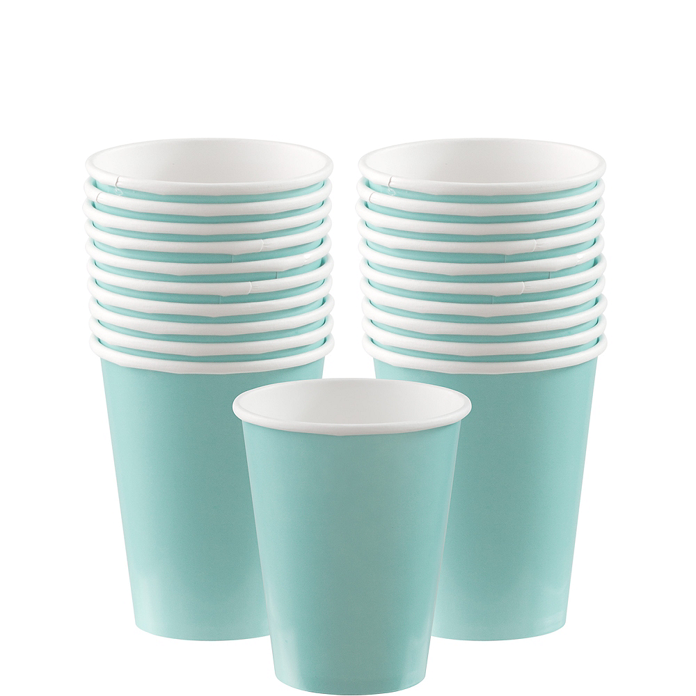 Robin's Egg Blue Paper Cups 20ct Image #1