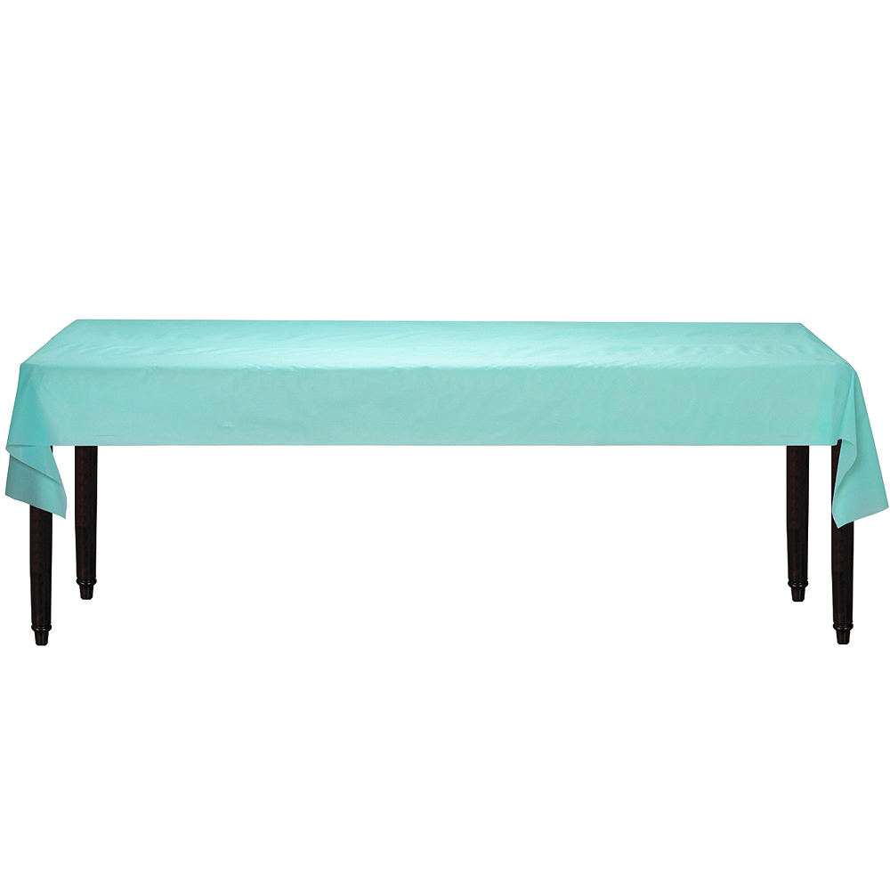 Robin's Egg Blue Plastic Table Cover Roll Image #2
