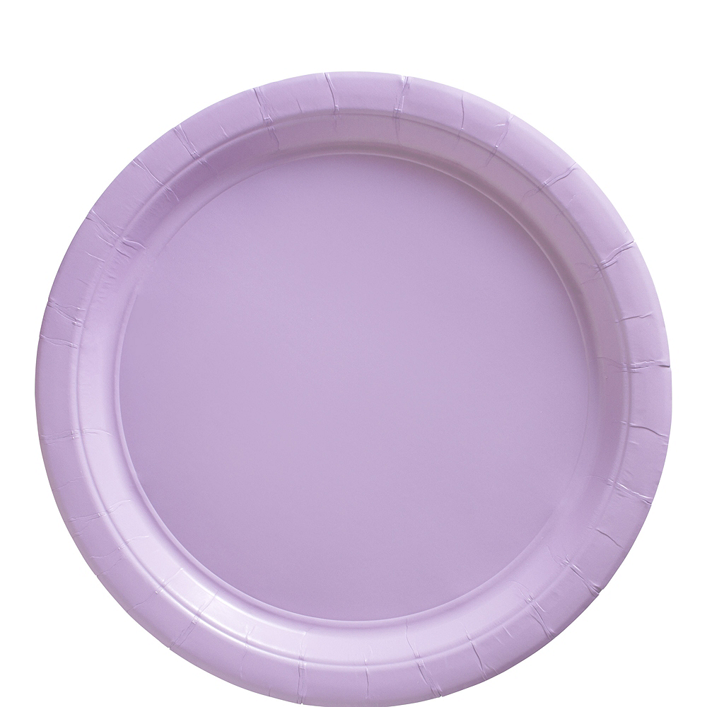 Lavender Paper Lunch Plates, 9in, 50ct Image #1