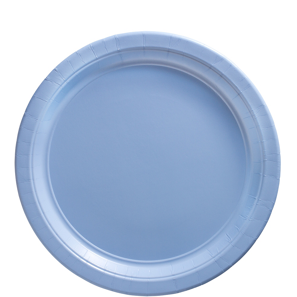 Big Party Pack Pastel Blue Paper Lunch Plates 50ct Image #1