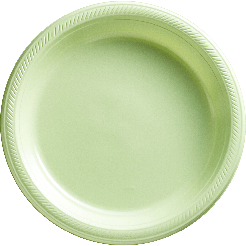 Big Party Pack Leaf Green Plastic Dinner Plates 50ct Image #1