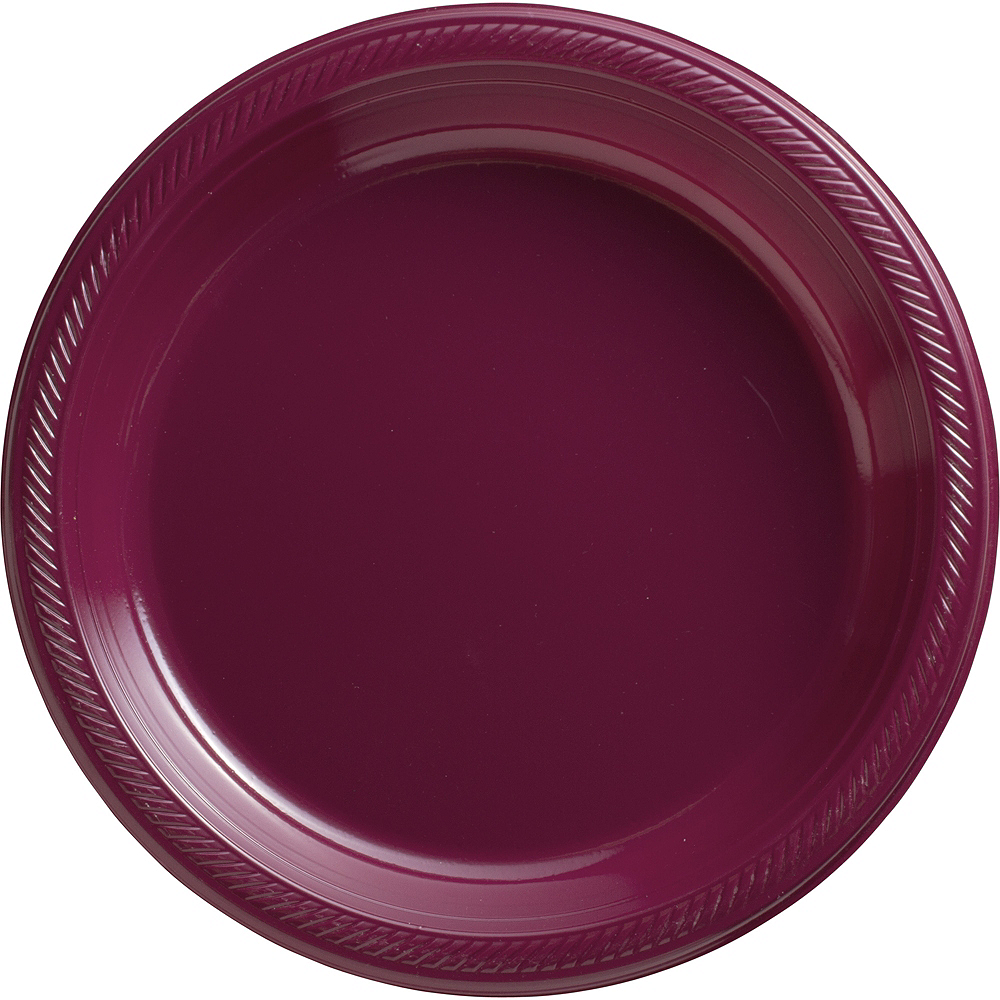 Big Party Pack Berry Plastic Dinner Plates 50ct Image #1