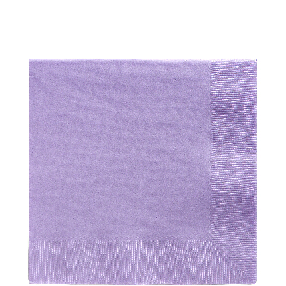 Nav Item for Big Party Pack Lavender Lunch Napkins 125ct Image #1