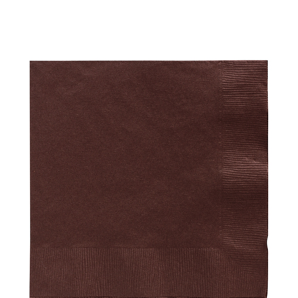 Big Party Pack Chocolate Brown Lunch Napkins 125ct Image #1