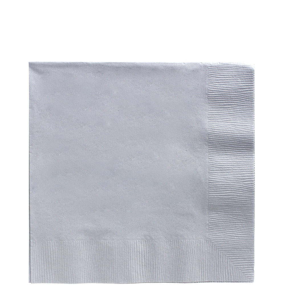 Big Party Pack Silver Lunch Napkins 125ct Image #1