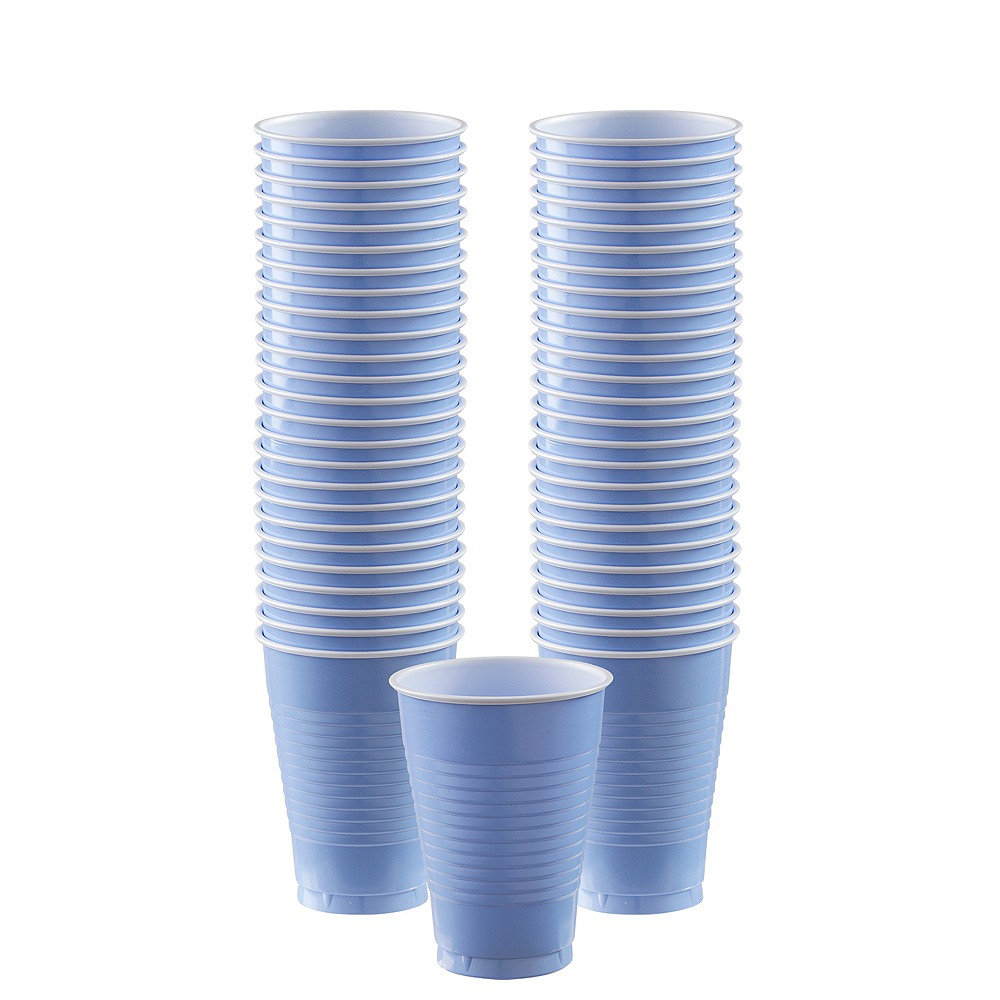 Big Party Pack Pastel Blue Plastic Cups 50ct Image #1