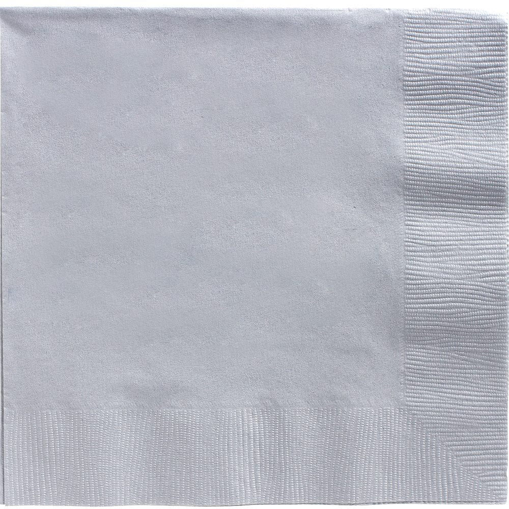 Big Party Pack Silver Dinner Napkins 50ct Image #1