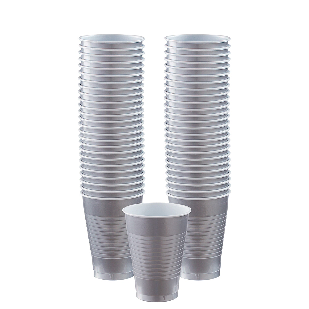 Nav Item for Silver Plastic Cups, 12oz, 50ct Image #1