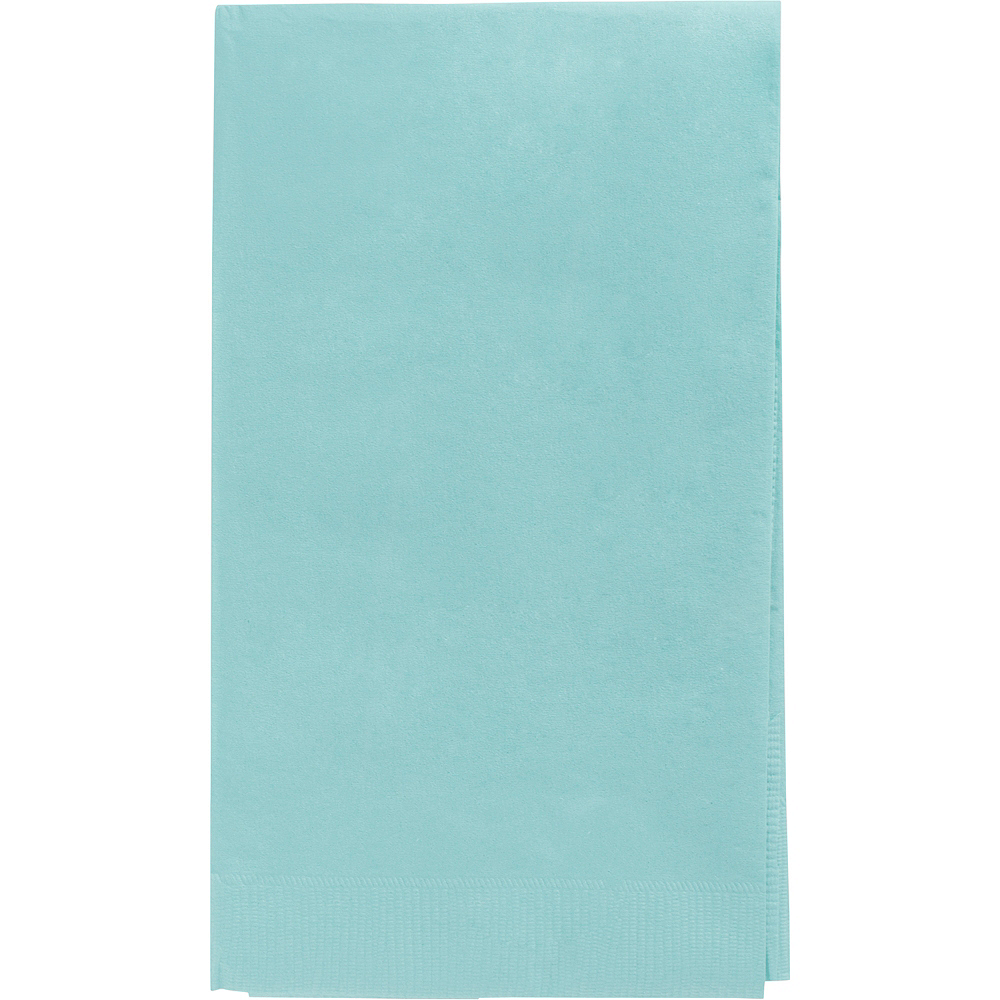 Big Party Pack Robin's Egg Blue Guest Towels 40ct Image #1