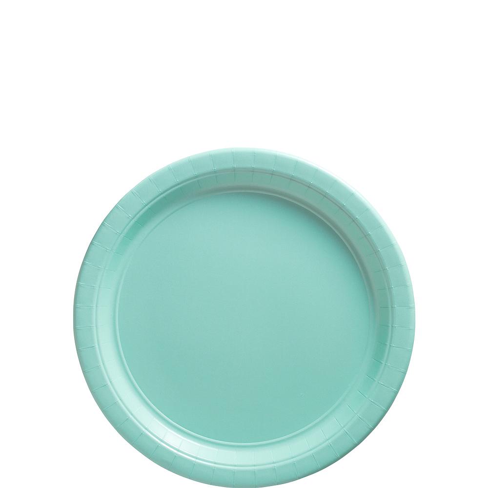 Robin's Egg Blue Paper Dessert Plates, 7in, 50ct Image #1