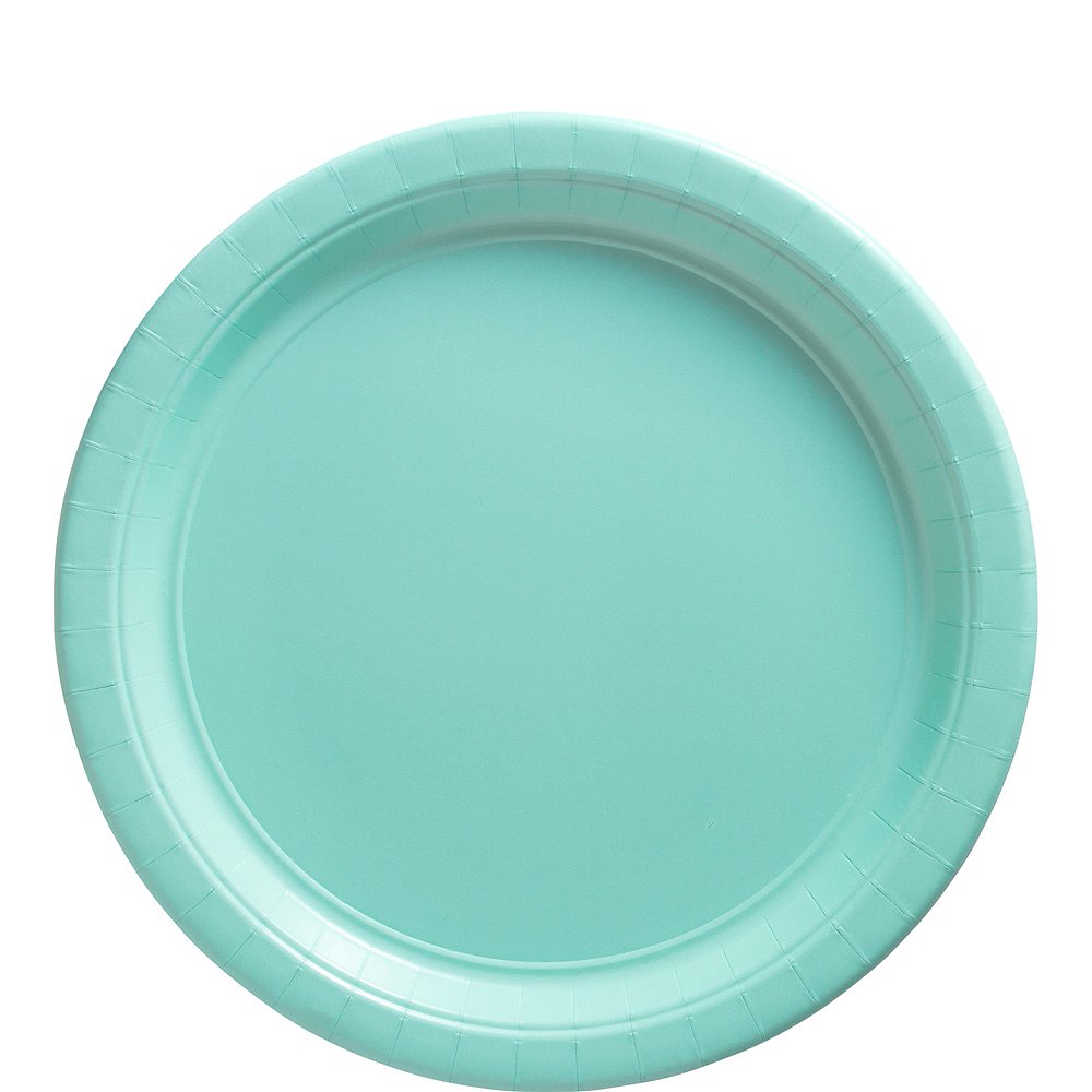 Robin's Egg Blue Paper Lunch Plates, 9in, 50ct Image #1