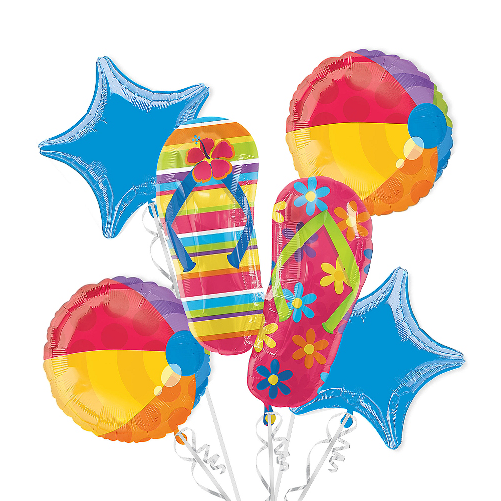 Flip-Flop Balloon Bouquet 5pc Image #1