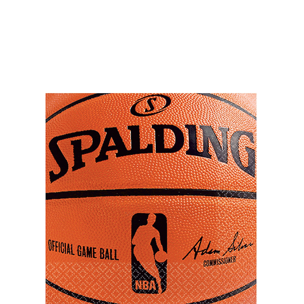 Spalding Basketball Beverage Napkins 36ct Image #1