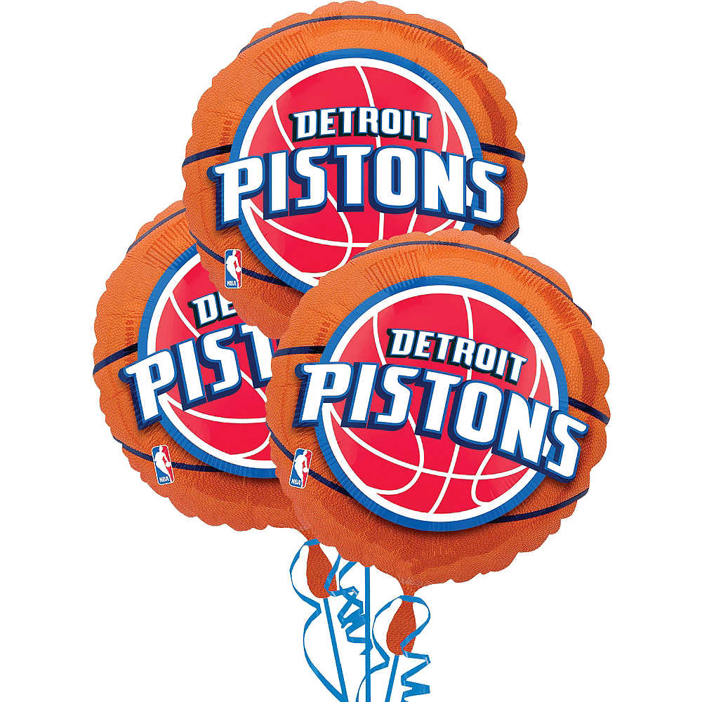 Nav Item for Detroit Pistons Balloons 3ct - Basketball Image #1