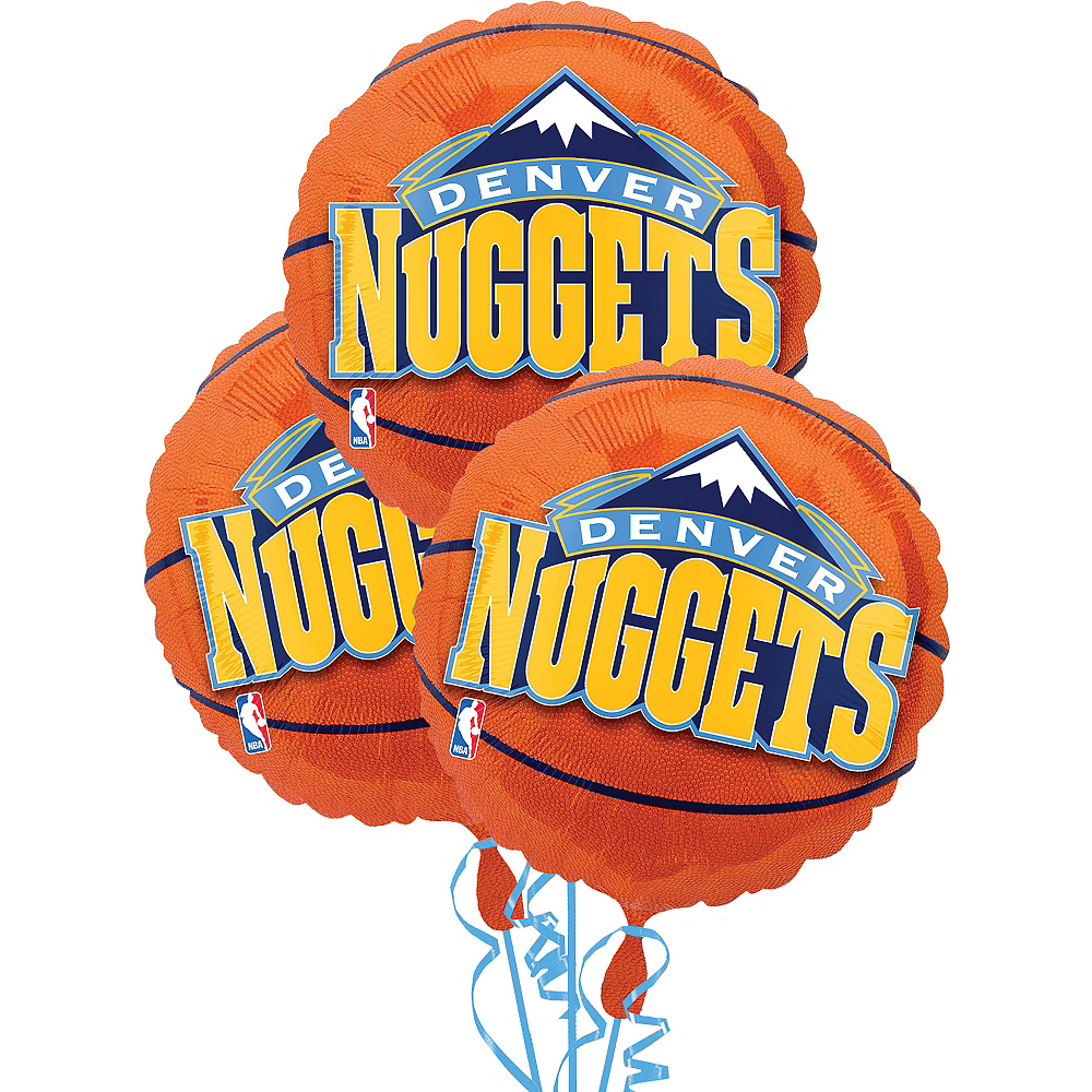 Denver Nuggets Balloons 3ct - Basketball Image #1