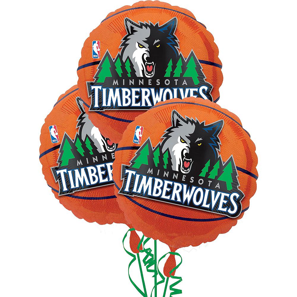 Minnesota Timberwolves Balloons 3ct - Basketball Image #1