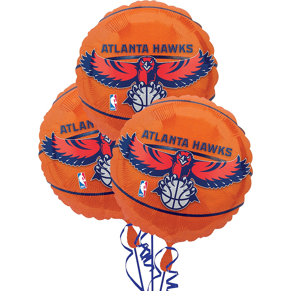 Atlanta Hawks Balloons 3ct - Basketball Image #1