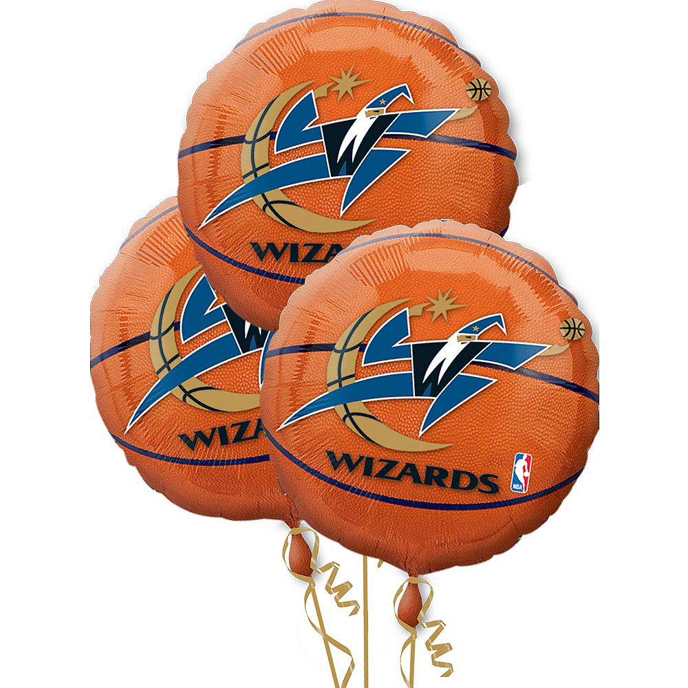 Nav Item for Washington Wizards Balloons 3ct - Basketball Image #1